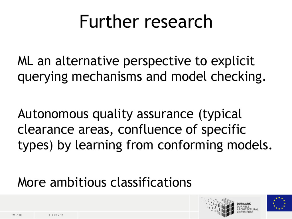 21 / 20 2 / 26 / 13 Further research ML an alte...