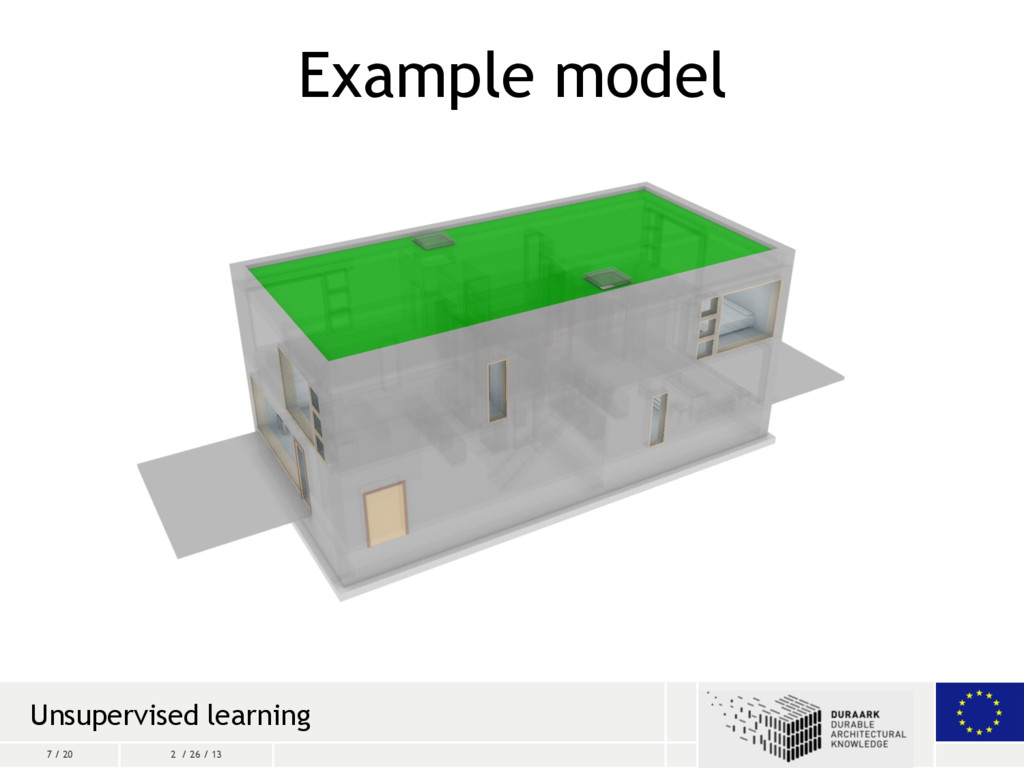 7 / 20 2 / 26 / 13 Example model Unsupervised l...