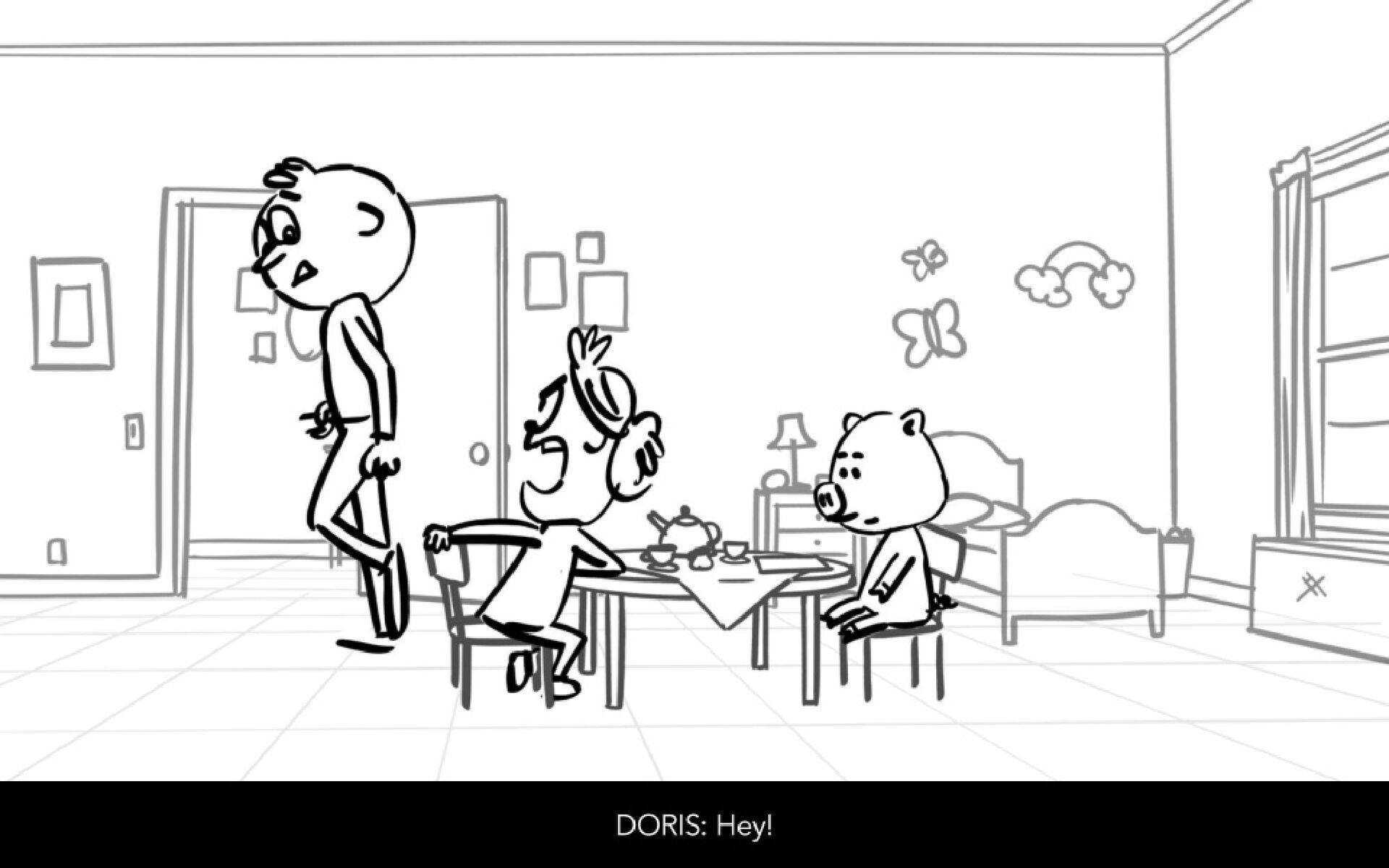 Dialog DORIS: Hey!