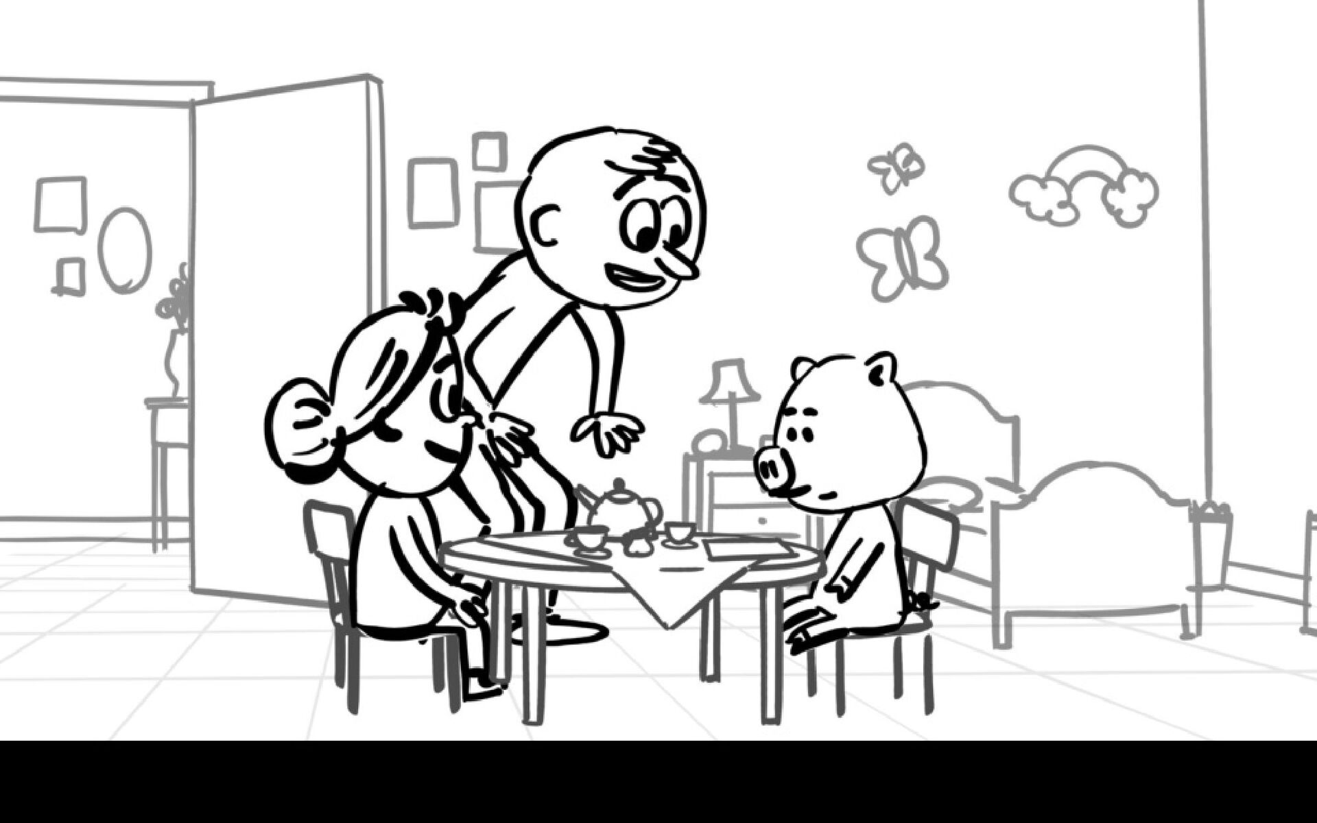 Dialog FRANK: What will you be having Mr. Pig.