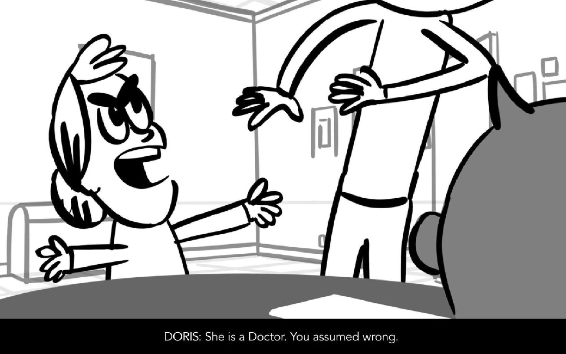 Dialog DORIS: When you assume, you make Anna's ...
