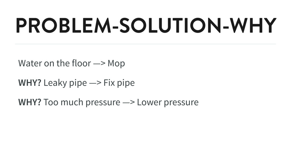 PROBLEM-SOLUTION-WHY Water on the floor —> Mop ...