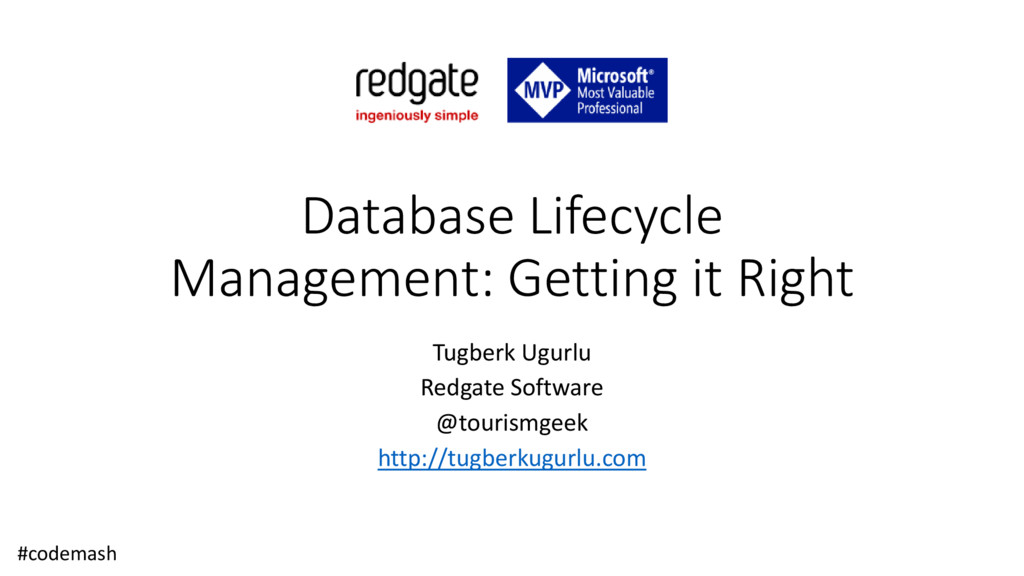 Database Lifecycle Management: Getting it Right...