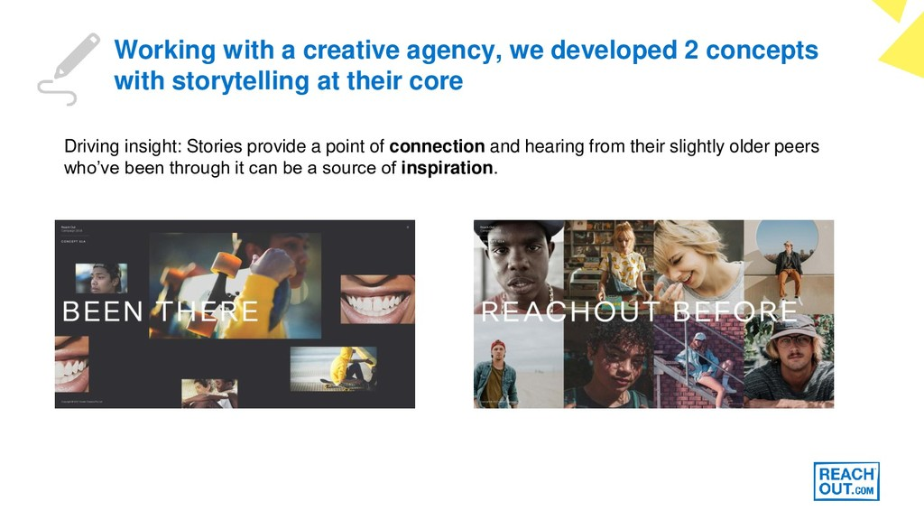 Working with a creative agency, we developed 2 ...