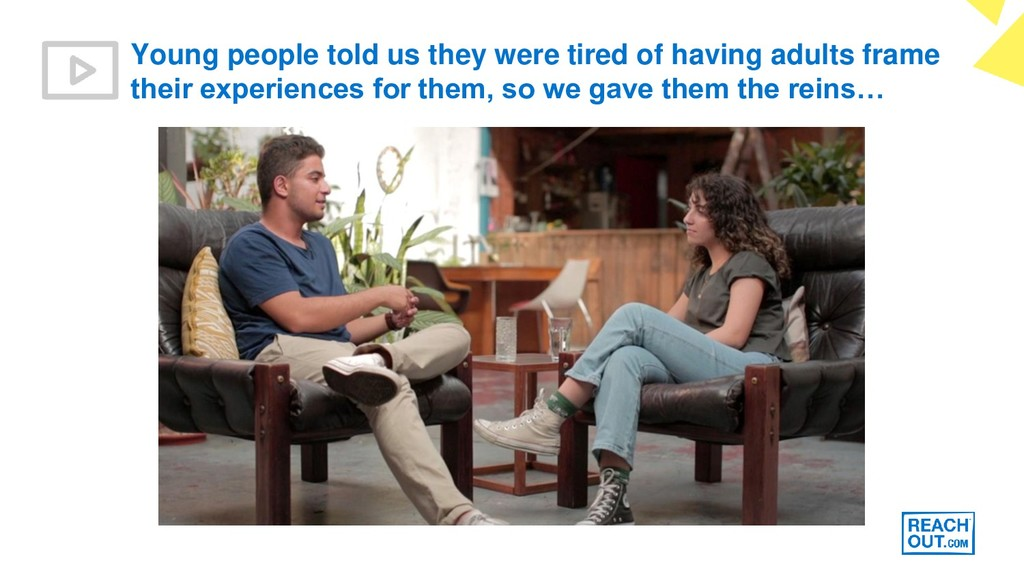Young people told us they were tired of having ...