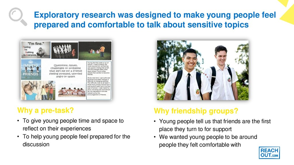 • To give young people time and space to reflec...