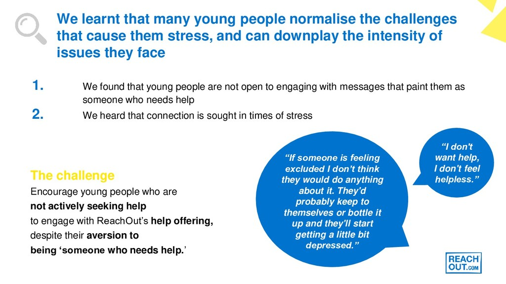 1. We found that young people are not open to e...