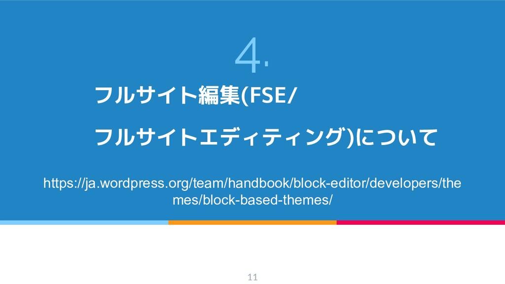 4. フルサイト編集(FSE/ フルサイトエディティング)について https://ja.wo...