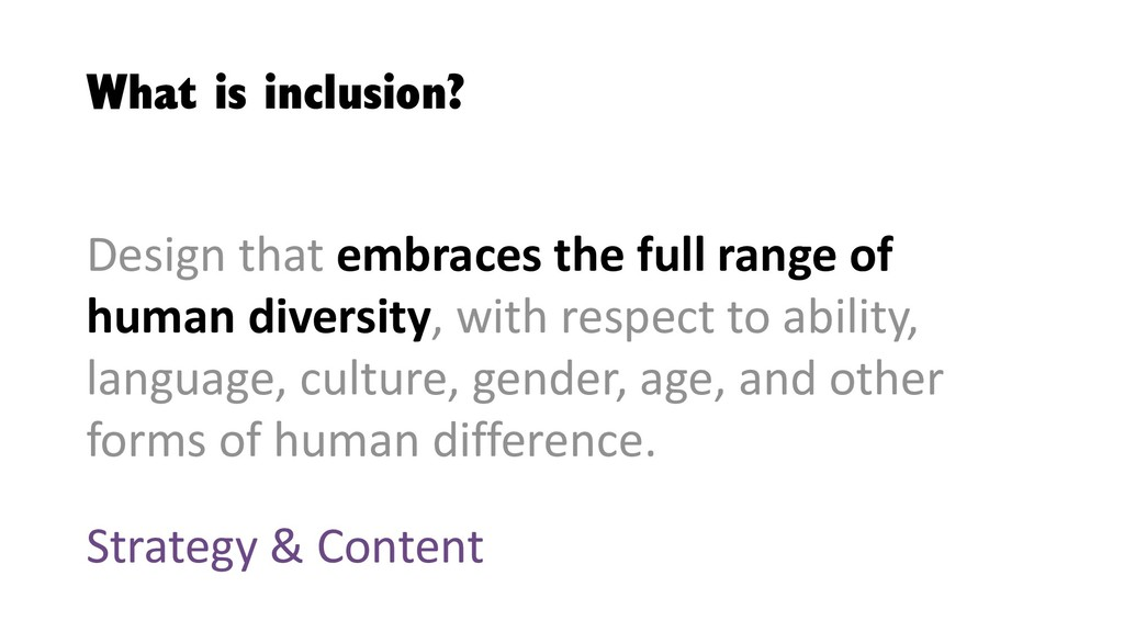 What is inclusion? Design that embraces the ful...