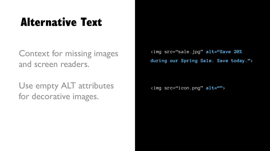 Alternative Text Context for missing images and...