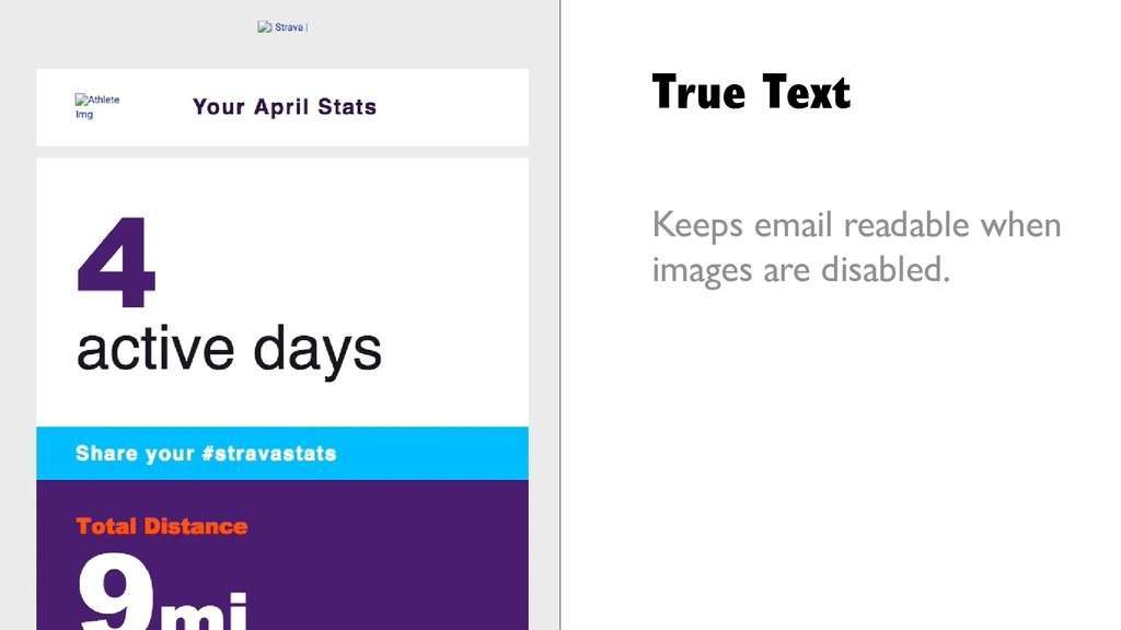 True Text Keeps email readable when images are ...