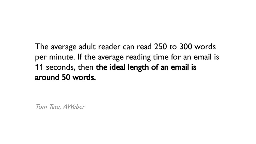 The average adult reader can read 250 to 300 wo...