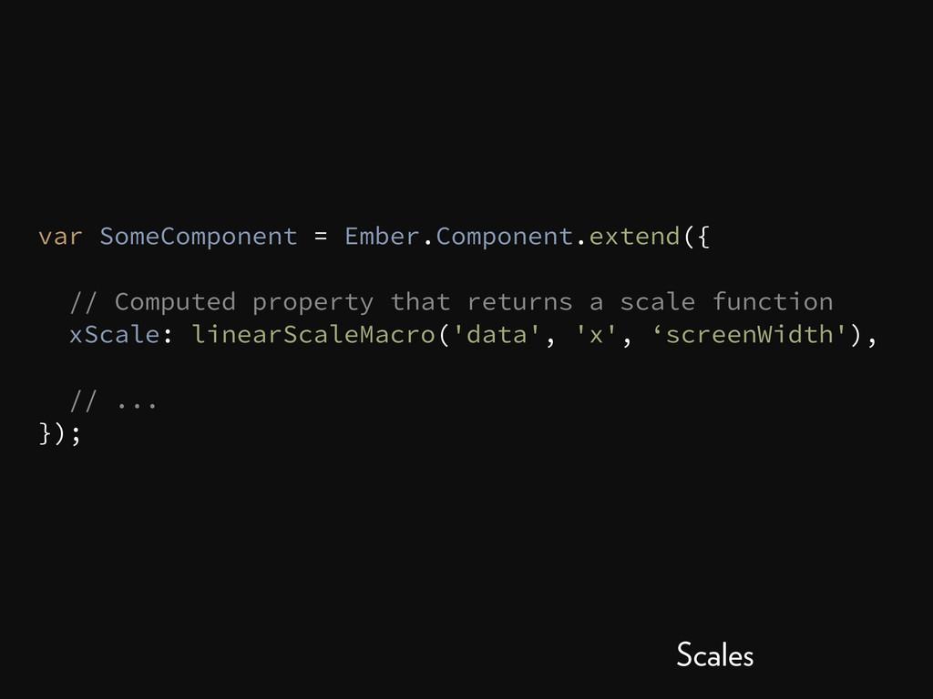 var SomeComponent = Ember.Component.extend({ //...