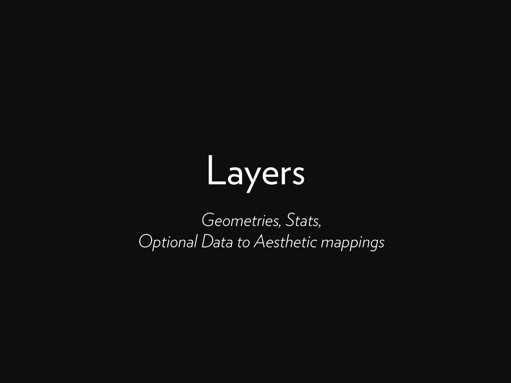Layers Geometries, Stats, Optional Data to Aest...