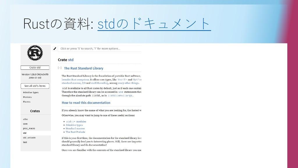 Rustの資料: stdのドキュメント