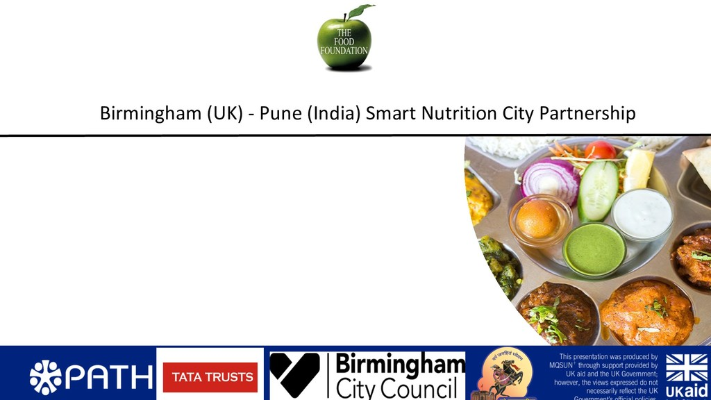 Birmingham (UK) - Pune (India) Smart Nutrition ...