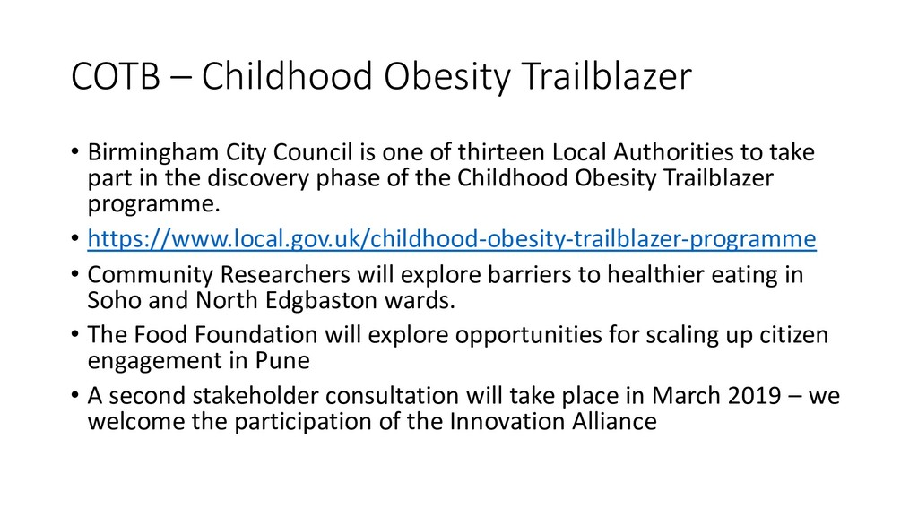 COTB – Childhood Obesity Trailblazer • Birmingh...