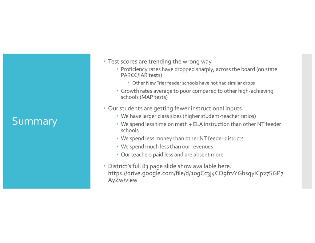 Summary – Test scores are trending the wrong wa...