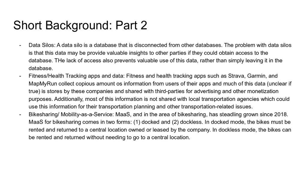 Short Background: Part 2 - Data Silos: A data s...