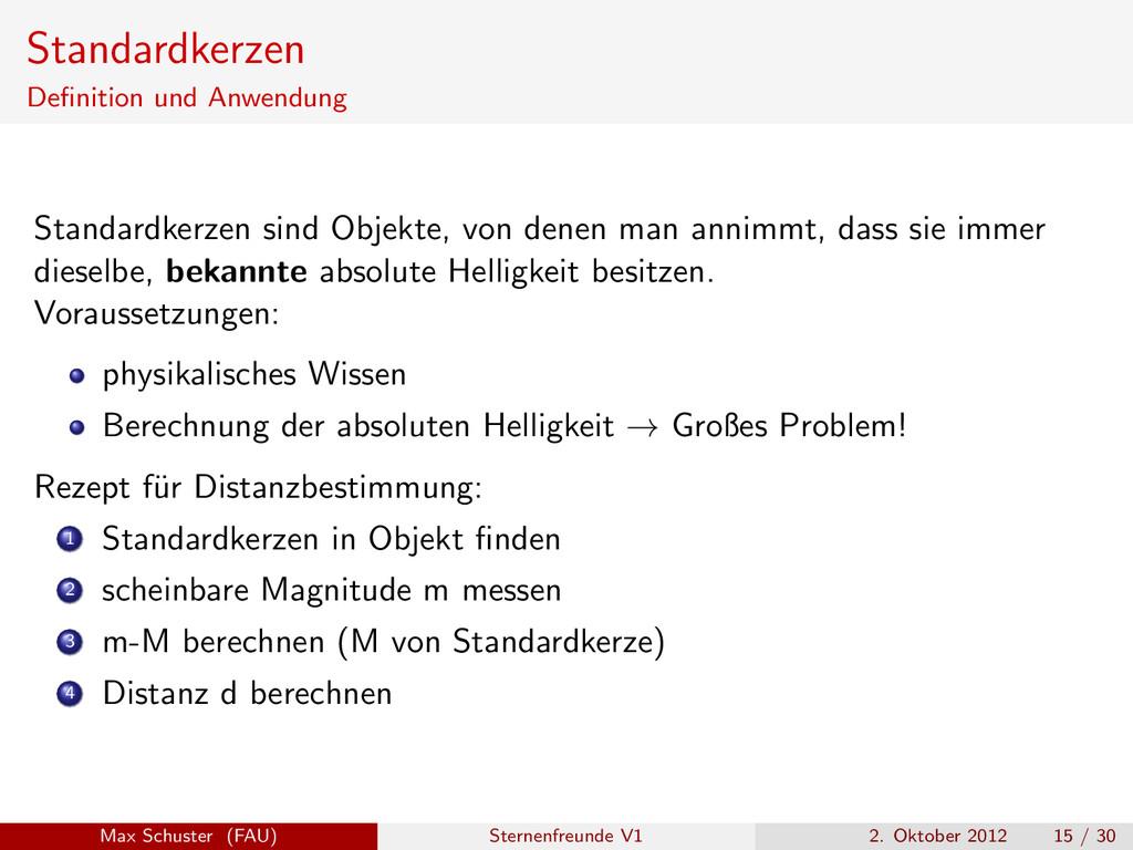 Standardkerzen Definition und Anwendung Standard...