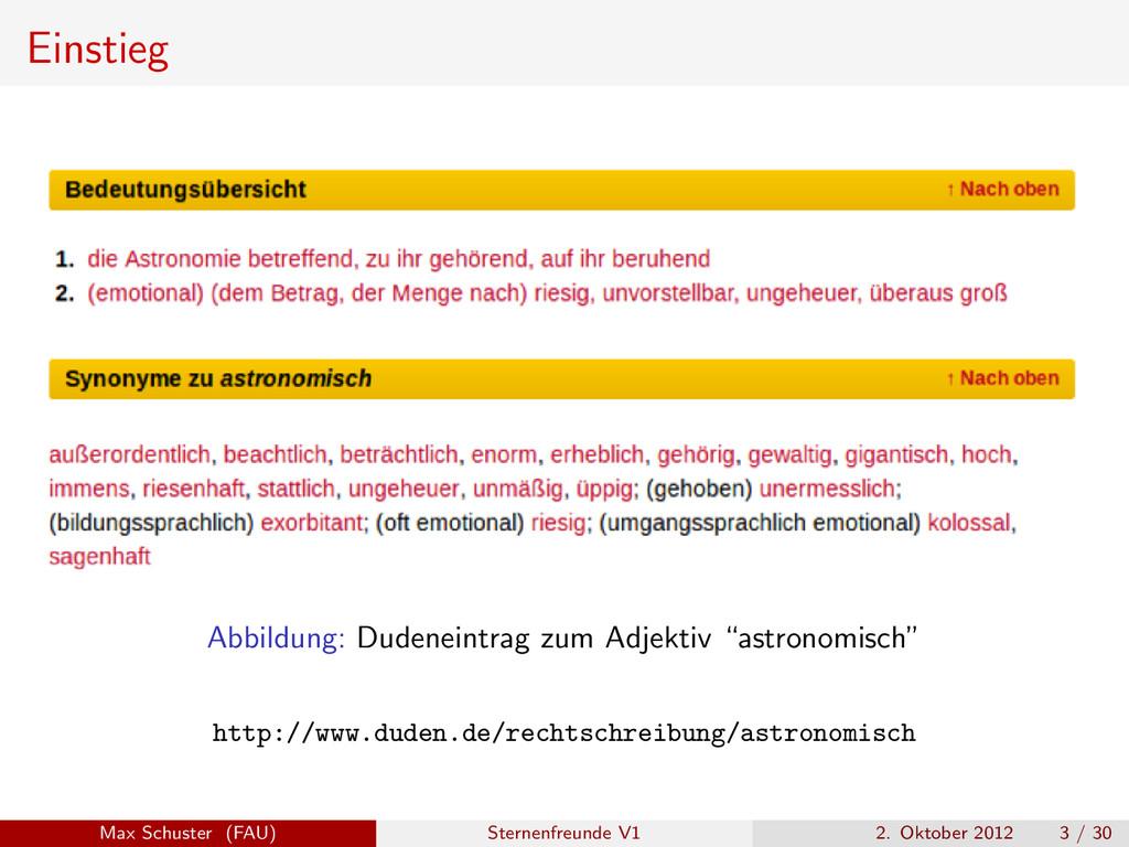 """Einstieg Abbildung: Dudeneintrag zum Adjektiv """"..."""