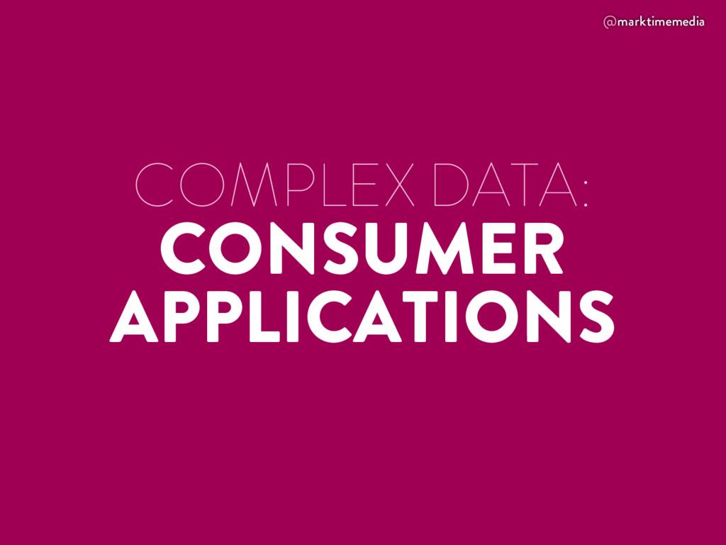@marktimemedia COMPLEX DATA: CONSUMER APPLICATI...