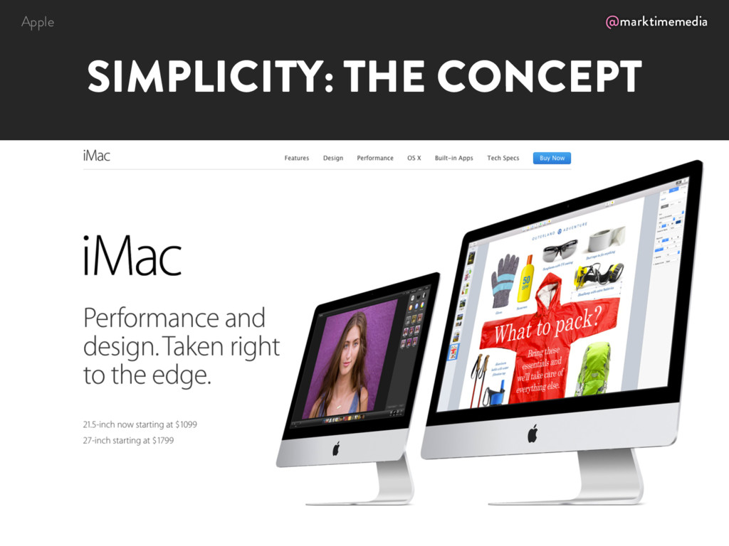 @marktimemedia SIMPLICITY: THE CONCEPT Apple