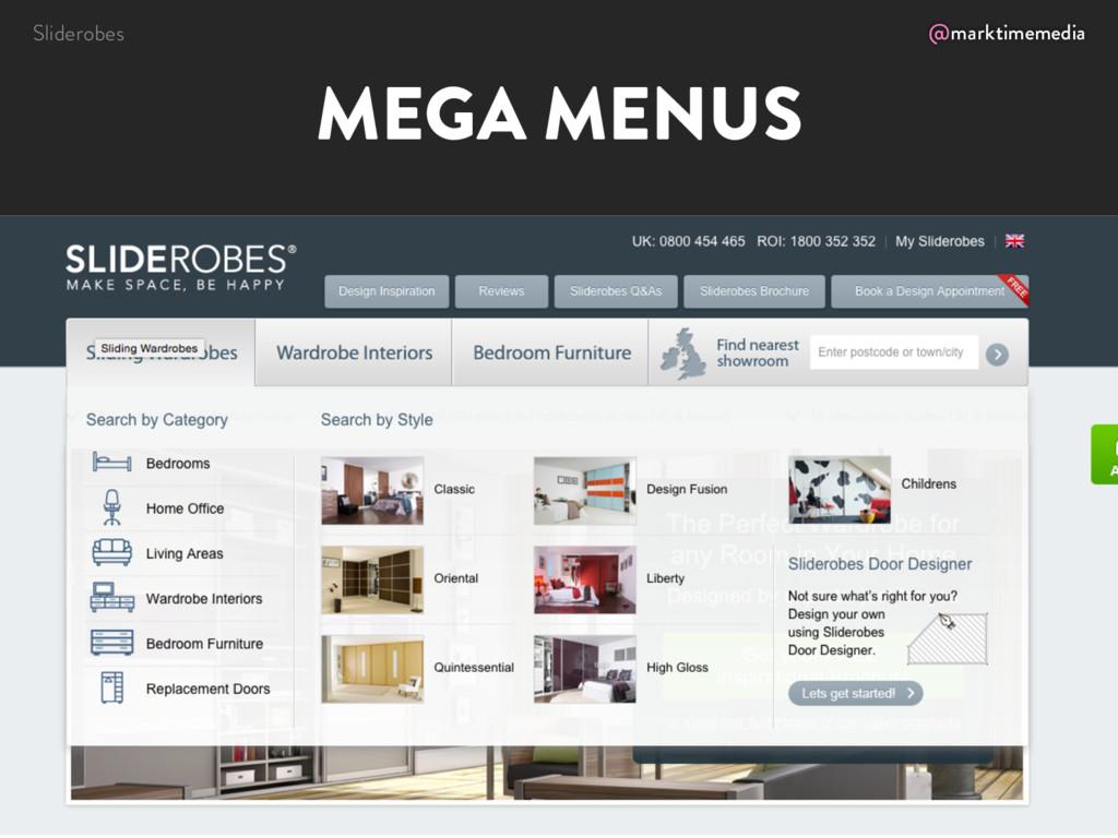 @marktimemedia MEGA MENUS Sliderobes