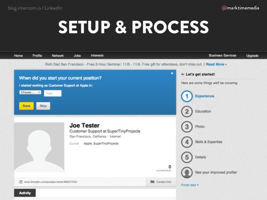 @marktimemedia SETUP & PROCESS blog.intercom.io...