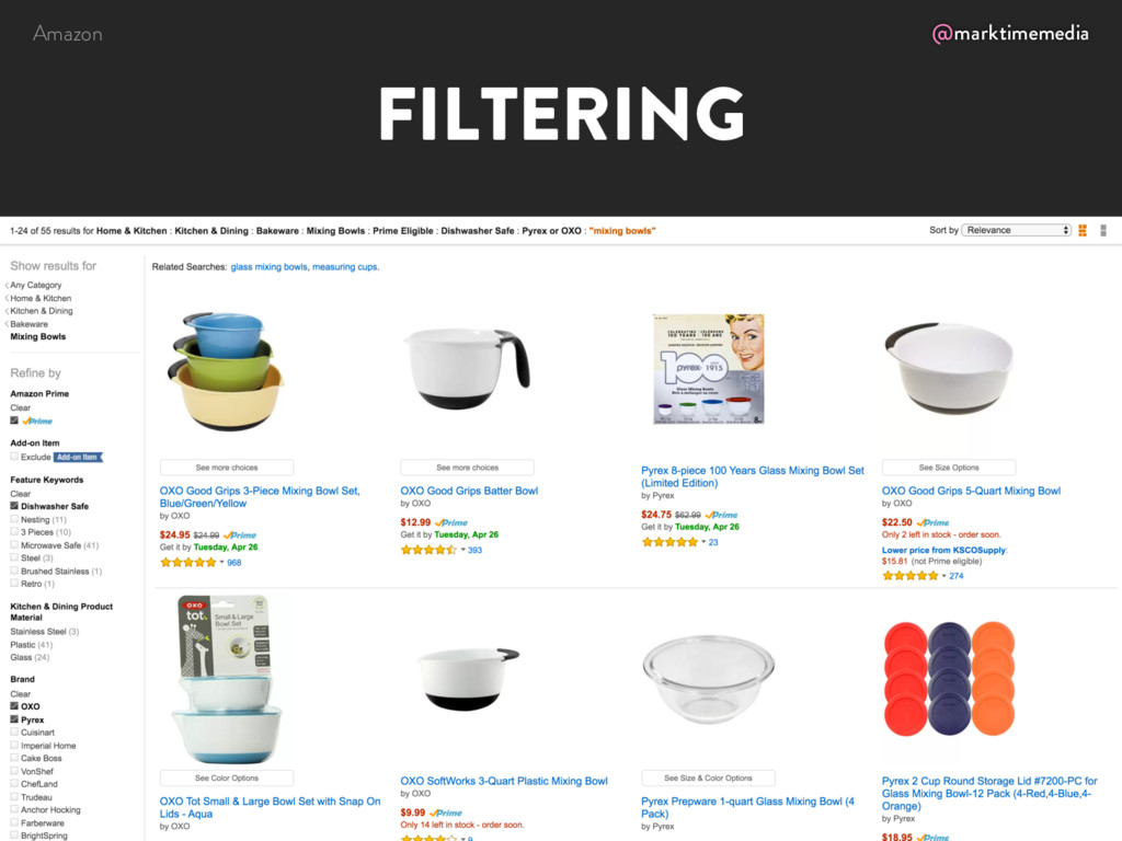 @marktimemedia FILTERING Amazon