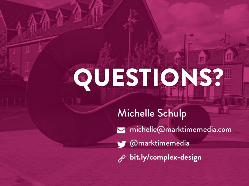 @marktimemedia QUESTIONS? Michelle Schulp miche...