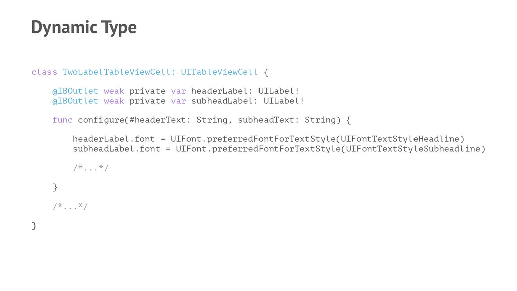Dynamic Type class TwoLabelTableViewCell: UITab...