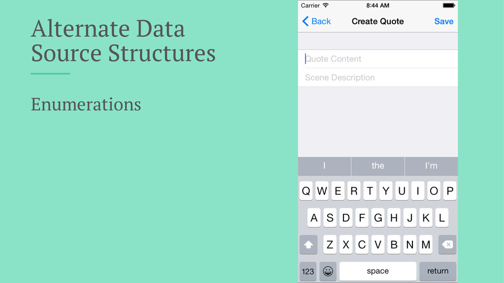 Alternate Data Source Structures Enumerations