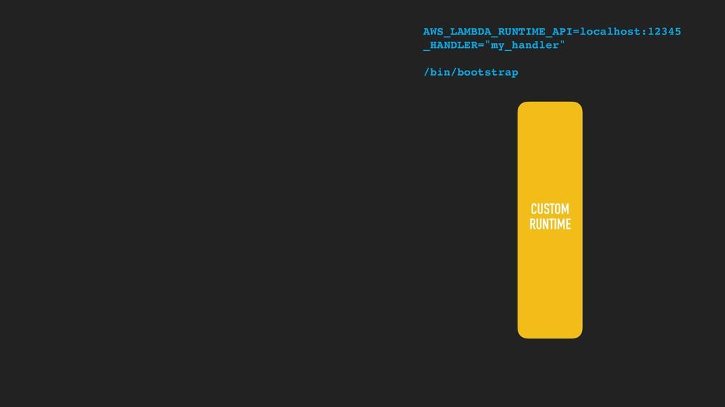 CUSTOM RUNTIME AWS_LAMBDA_RUNTIME_API=localhost...