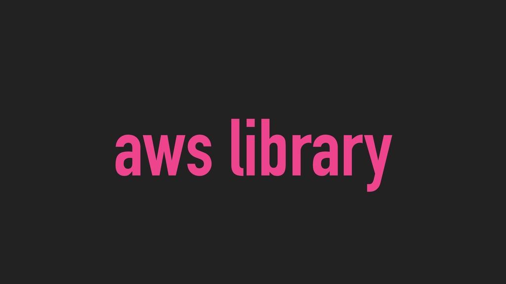 aws library