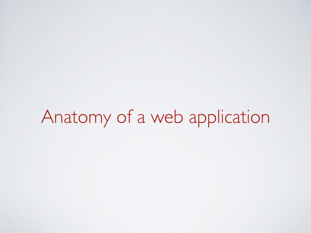 Anatomy of a web application