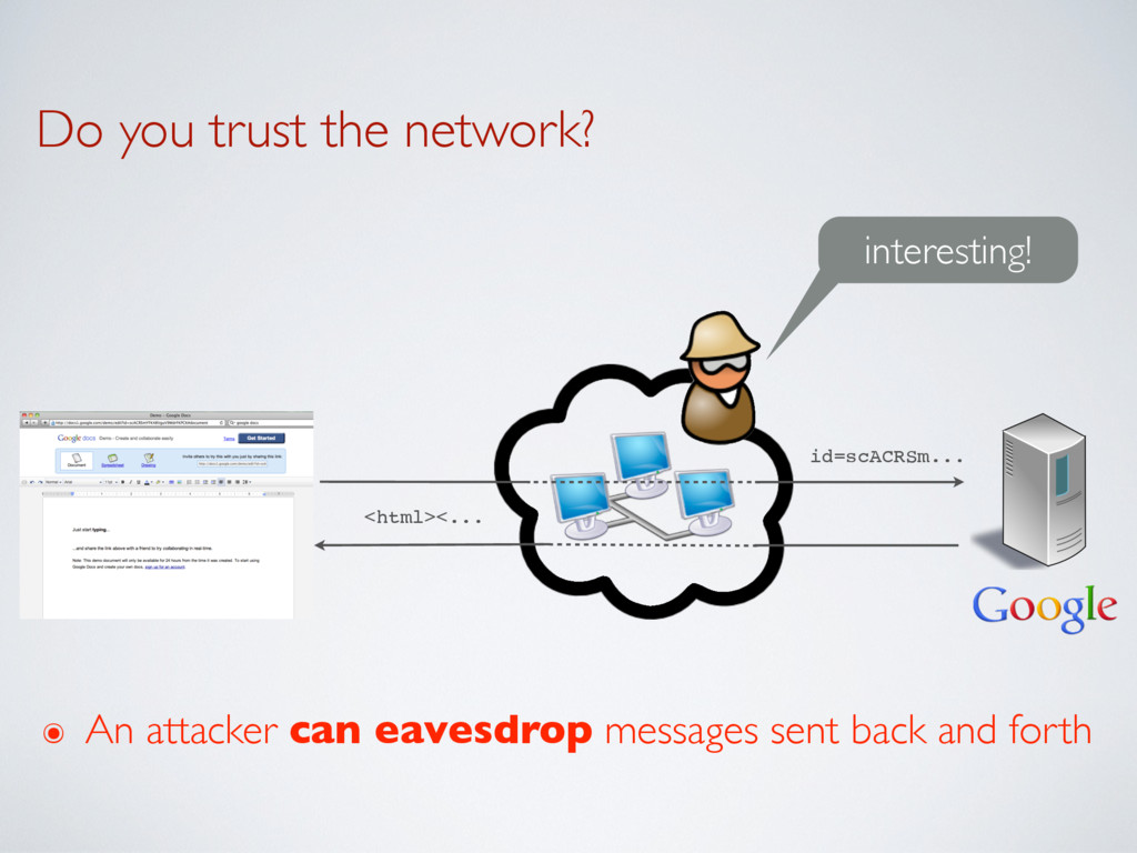 Do you trust the network? interesting! id=scACR...