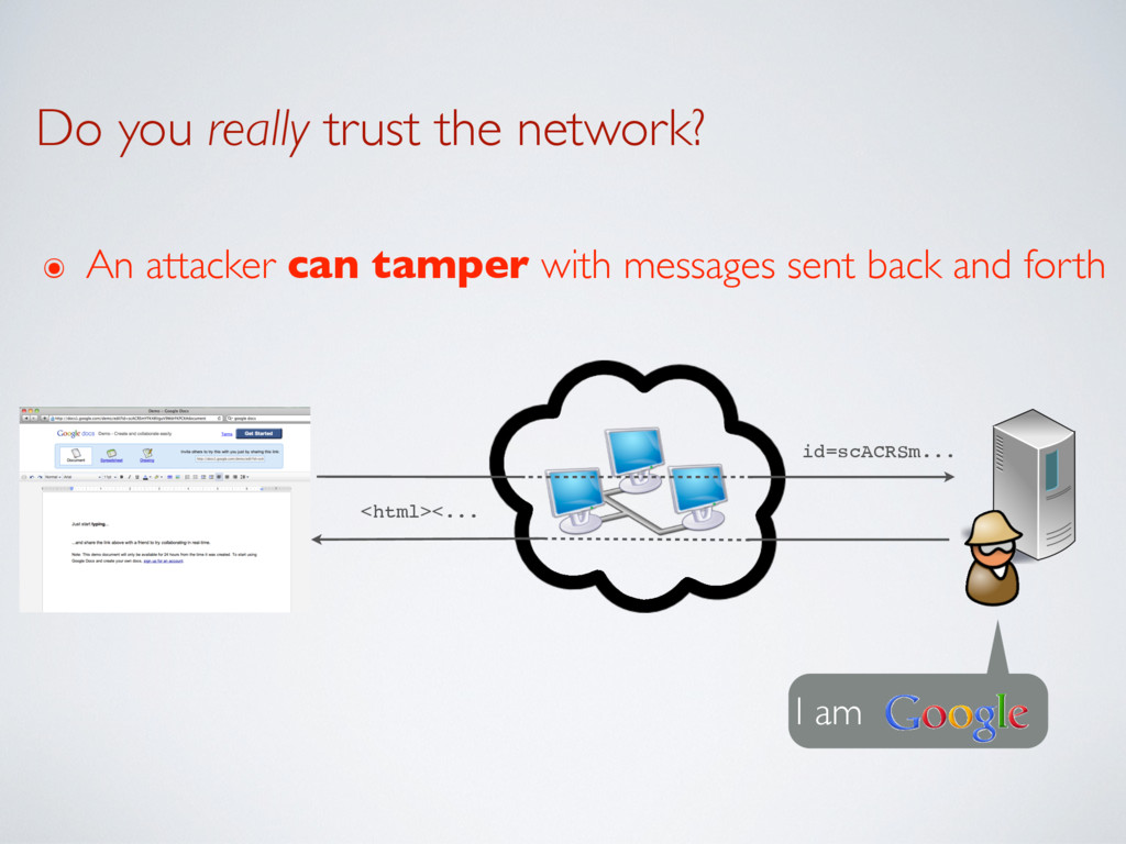 Do you really trust the network? I am id=scACRS...