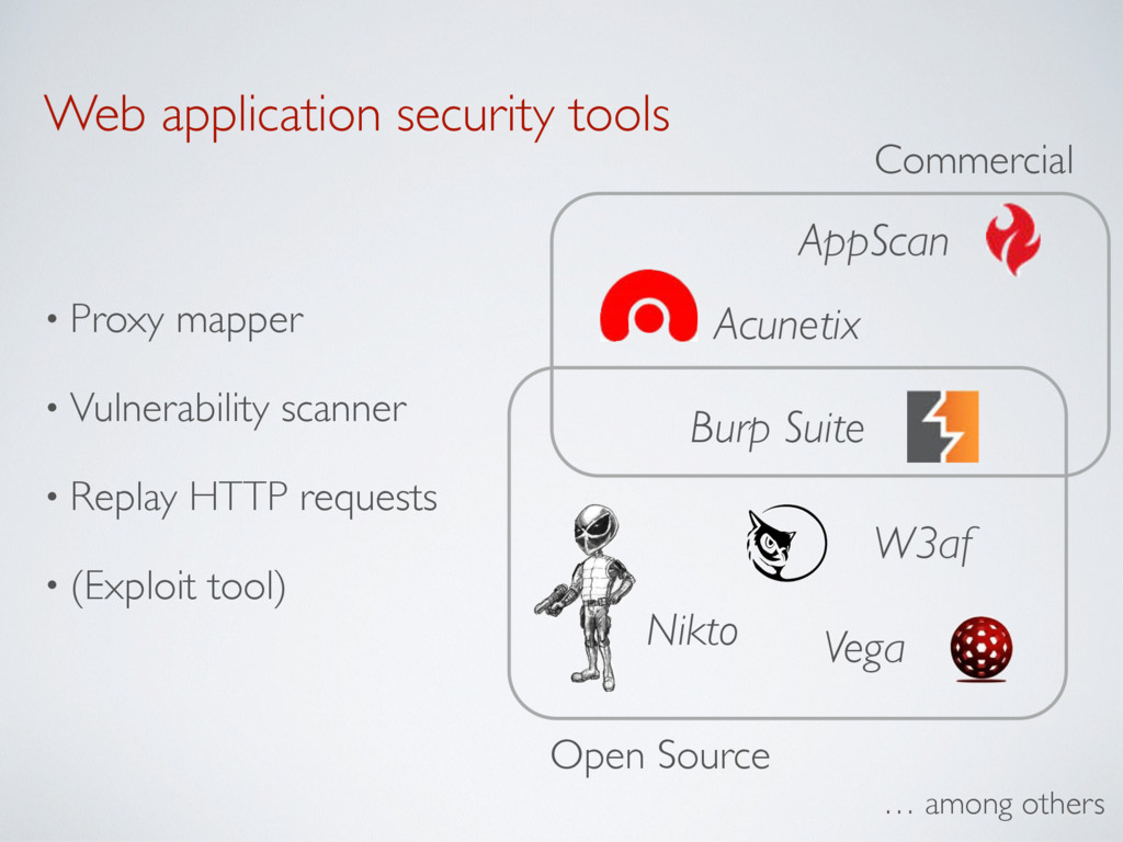 Web application security tools • Proxy mapper •...