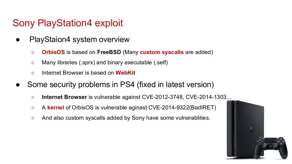 Sony PlayStation4 exploit ● PlayStaion4 system ...