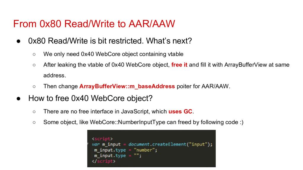 From 0x80 Read/Write to AAR/AAW ● 0x80 Read/Wri...