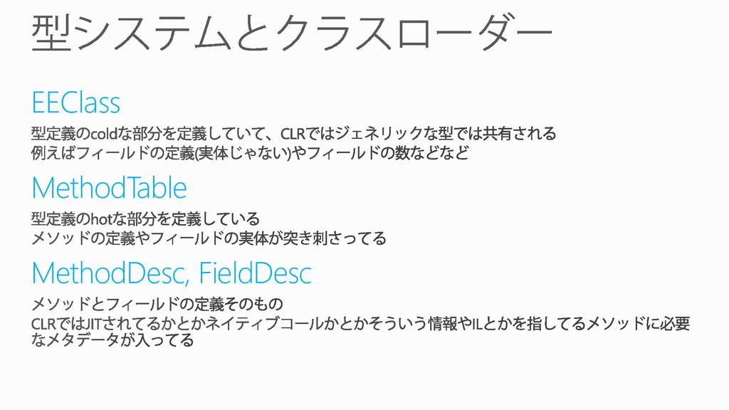 EEClass MethodTable MethodDesc, FieldDesc