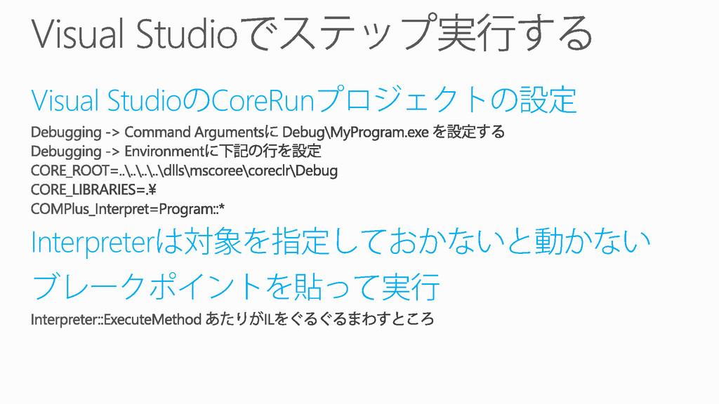 Visual Studio CoreRun Interpreter