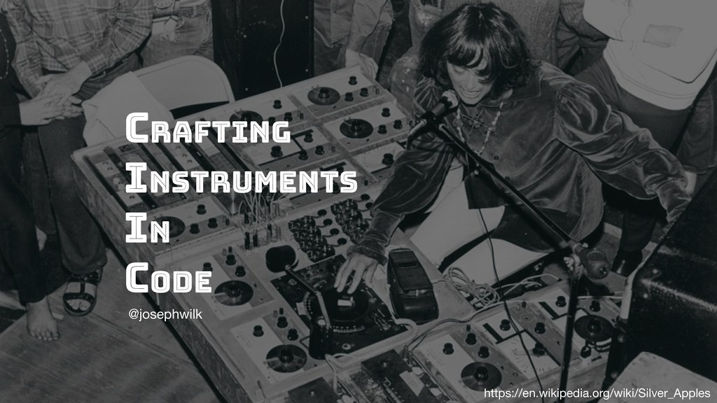 Crafting Instruments in code @josephwilk https:...