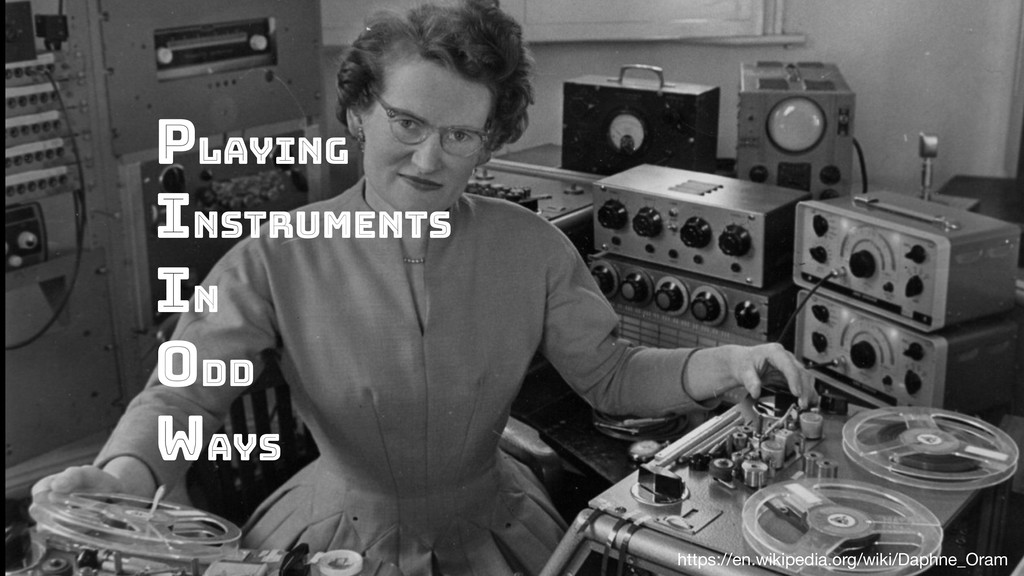 Playing instruments in odd ways https://en.wiki...