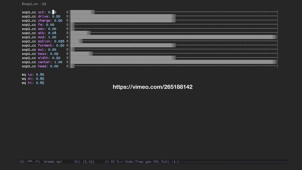 Emacs Demo https://vimeo.com/265188142