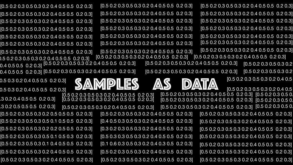 Samples as DATA [0.5 0.2 0.3 0.5 0.3 0.2 0.4 0....