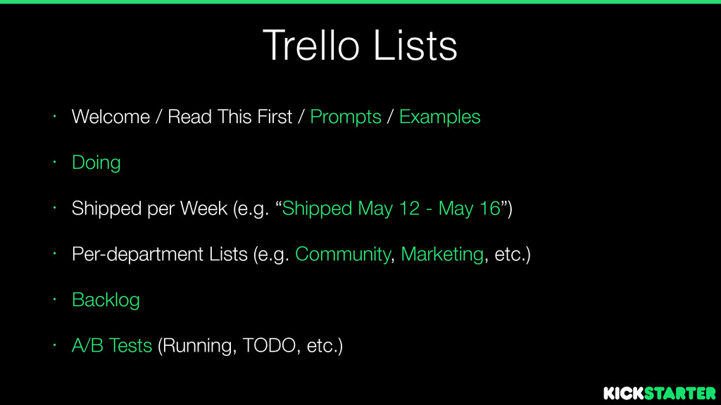 Trello Lists • Welcome / Read This First / Prom...