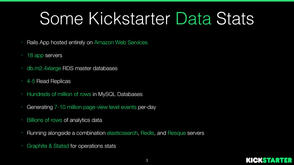Some Kickstarter Data Stats • Rails App hosted ...
