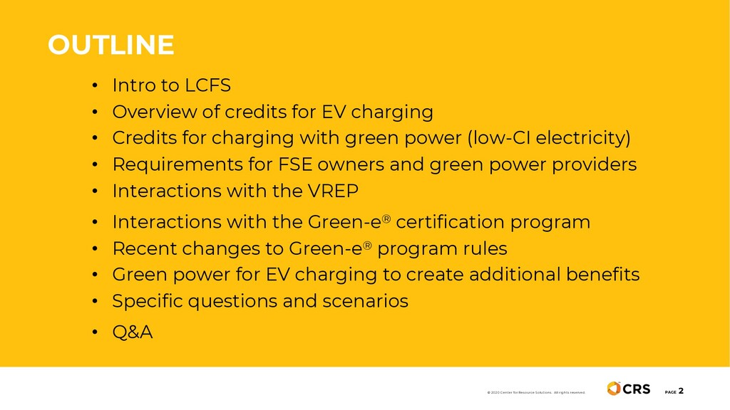 • Intro to LCFS • Overview of credits for EV ch...
